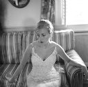 barboursville vineyard winery wedding dress bride getting ready portrait bw film natural jason keefer photography
