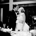 jason keefer wedding photography bride and groom kissing bw whitehall estate bluemont va