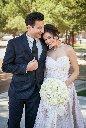 editorial wedding engagement photo