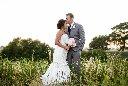 tall grass wedding photo